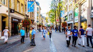 luxemburg shopping 300x169 - Luxembourg / Luxemburg - Sept. 20, 2018: Grand Rue Shopping Stre