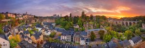 luxemburg stad 300x100 - Luxembourg City, Luxembourg. Panoramic Cityscape Image Of Old To